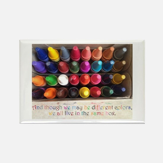All Colors Rectangle Magnet