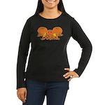 Halloween Pumpkin Donna Women's Long Sleeve Dark T