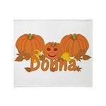 Halloween Pumpkin Donna Throw Blanket