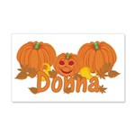 Halloween Pumpkin Donna 20x12 Wall Decal