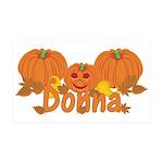 Halloween Pumpkin Donna 35x21 Wall Decal