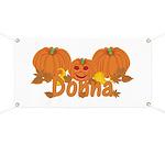 Halloween Pumpkin Donna Banner