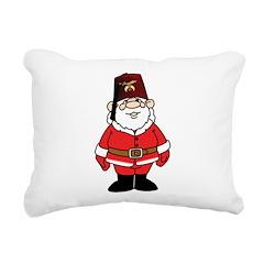 Santa The Shriner Rectangular Canvas Pillow