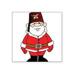 Santa The Shriner Square Sticker 3