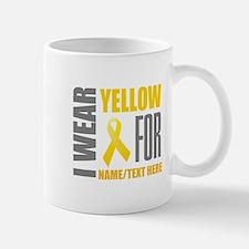 Yellow Awareness Ribbon Customiz Mug
