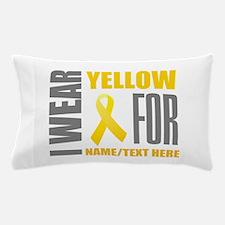 Yellow Awareness Ribbon Customized Pillow Case