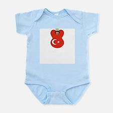 Turkish Flag Angel Infant Creeper