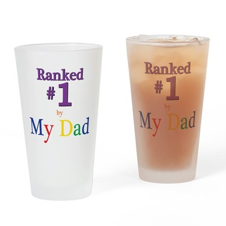 Ranked #1 by My Dad (SEO) Drinking Glass