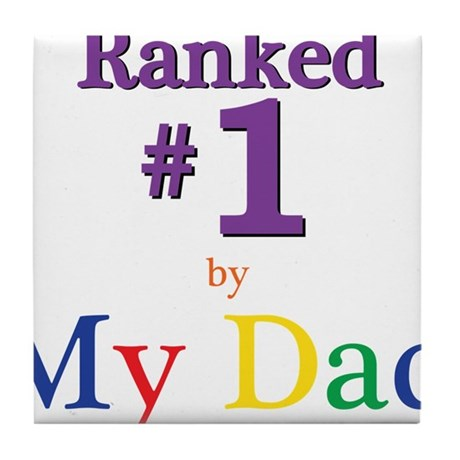 Ranked #1 by My Dad (SEO) Tile Coaster