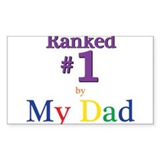 Ranked #1 by My Dad (SEO) Decal