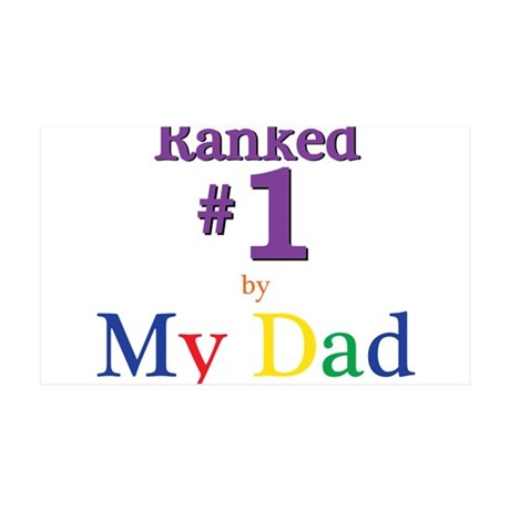 Ranked #1 by My Dad (SEO) 35x21 Wall Decal