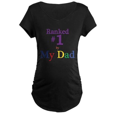 Ranked #1 by My Dad (SEO) Maternity Dark T-Shirt