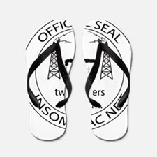Insomniac Net Official Seal Flip Flops
