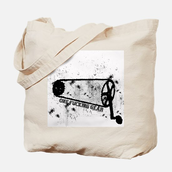 One Fucking Gear Tote Bag