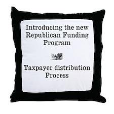 Republican Funding Throw Pillow