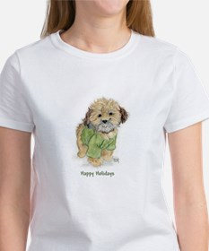 Lhasa Apso Christmas Puppy Women's T-Shirt