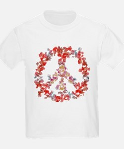 Attraction Flower Peace - Simple T-Shirt