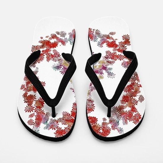 Attraction Flower Peace - Simple Flip Flops