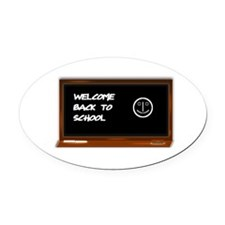 Welcome to school Oval Car Magnet