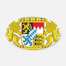 Landeswappen Bayern Oval Car Magnet