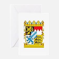 Landeswappen Bayern Greeting Card