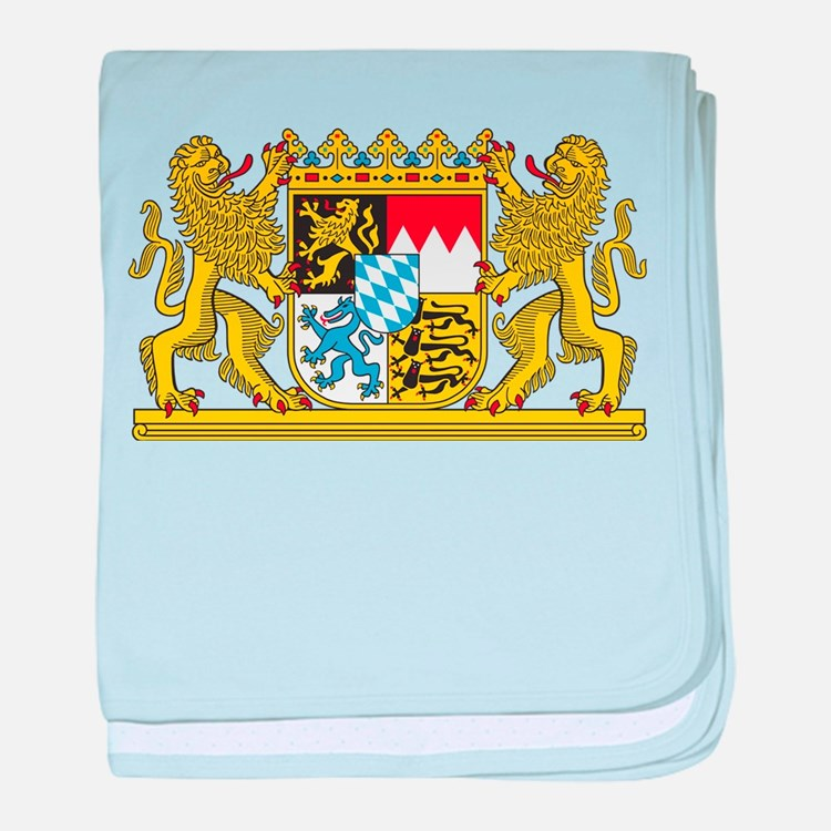 Landeswappen Bayern baby blanket