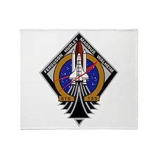STS 135 Atlantis Throw Blanket