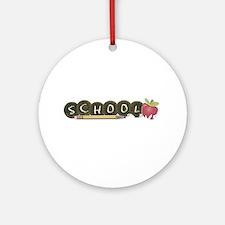School pencils Ornament (Round)