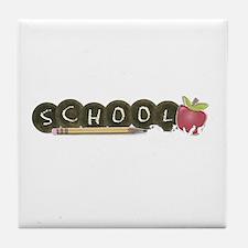School pencils Tile Coaster
