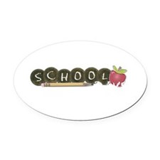 School pencils Oval Car Magnet