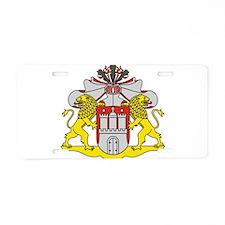 Hamburg Landeswappen Aluminum License Plate