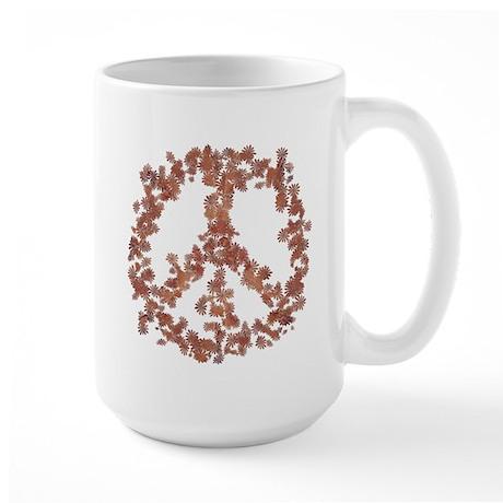 Beloved Flower Peace Large Mug