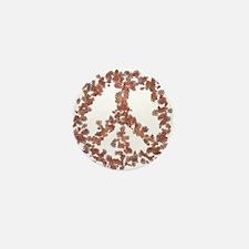 Beloved Flower Peace Mini Button