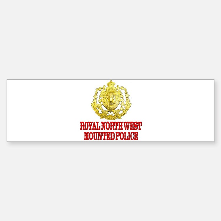 North West Mounted Police Bumper Bumper Stickers