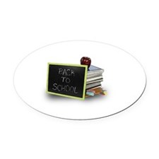 Back to school apple Oval Car Magnet