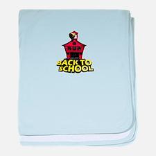 Back to school baby blanket