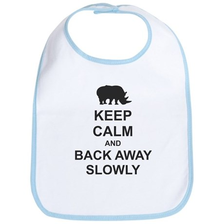 Keep Calm and Back Away Slowly Bib