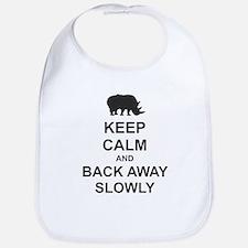 Keep Calm and Back Away Slowly Bib