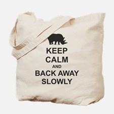 Keep Calm and Back Away Slowly Tote Bag