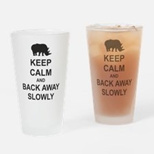 Keep Calm and Back Away Slowly Drinking Glass