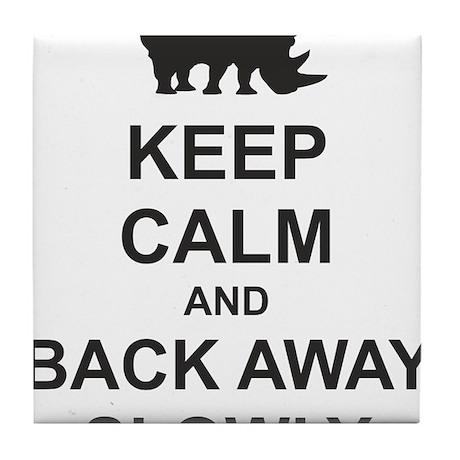 Keep Calm and Back Away Slowly Tile Coaster