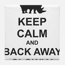 Keep Calm and Back Away Slowly Tile Coaster