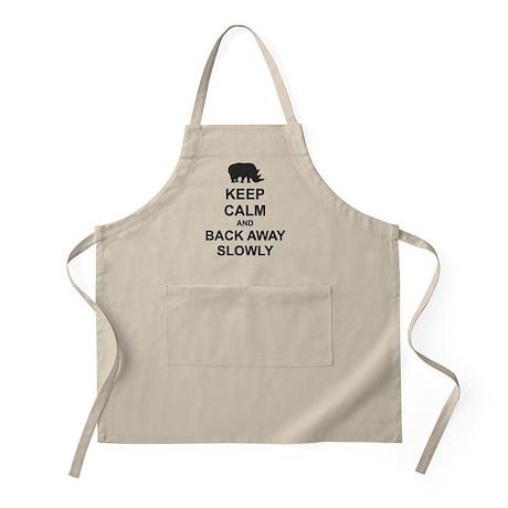 Keep Calm and Back Away Slowly Apron