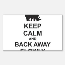 Keep Calm and Back Away Slowly Decal