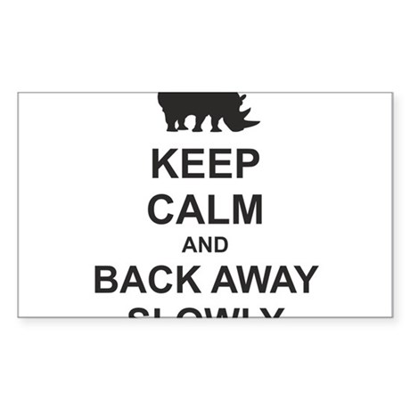 Keep Calm and Back Away Slowly Sticker (Rectangle)