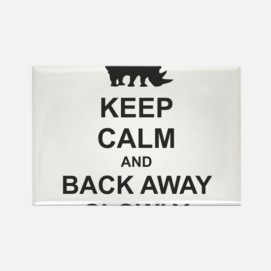 Keep Calm and Back Away Slowly Rectangle Magnet
