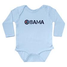 Obama Peace 2 Long Sleeve Infant Bodysuit
