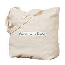 One a Side Tote Bag