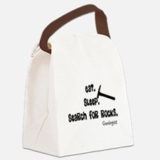 Geologist Eat Sleep Rocks.PNG Canvas Lunch Bag