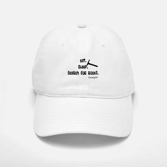 Geologist Eat Sleep Rocks.PNG Hat